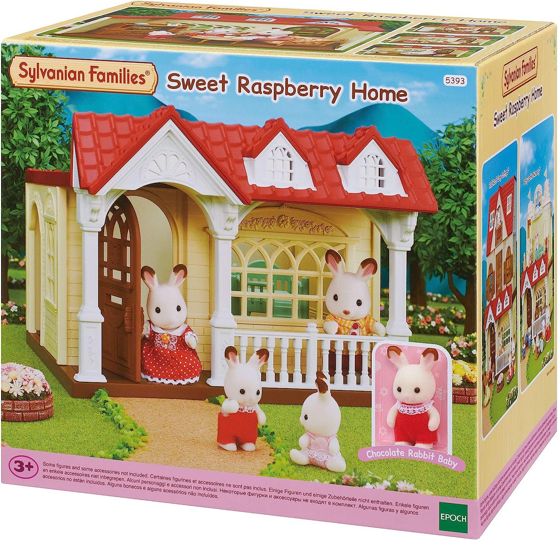 Amazon.es: SYLVANIAN FAMILIES- Sweet Raspberry Home Dulce Casita de Las Frambuesas (EPOCH 5393): Juguetes y juegos