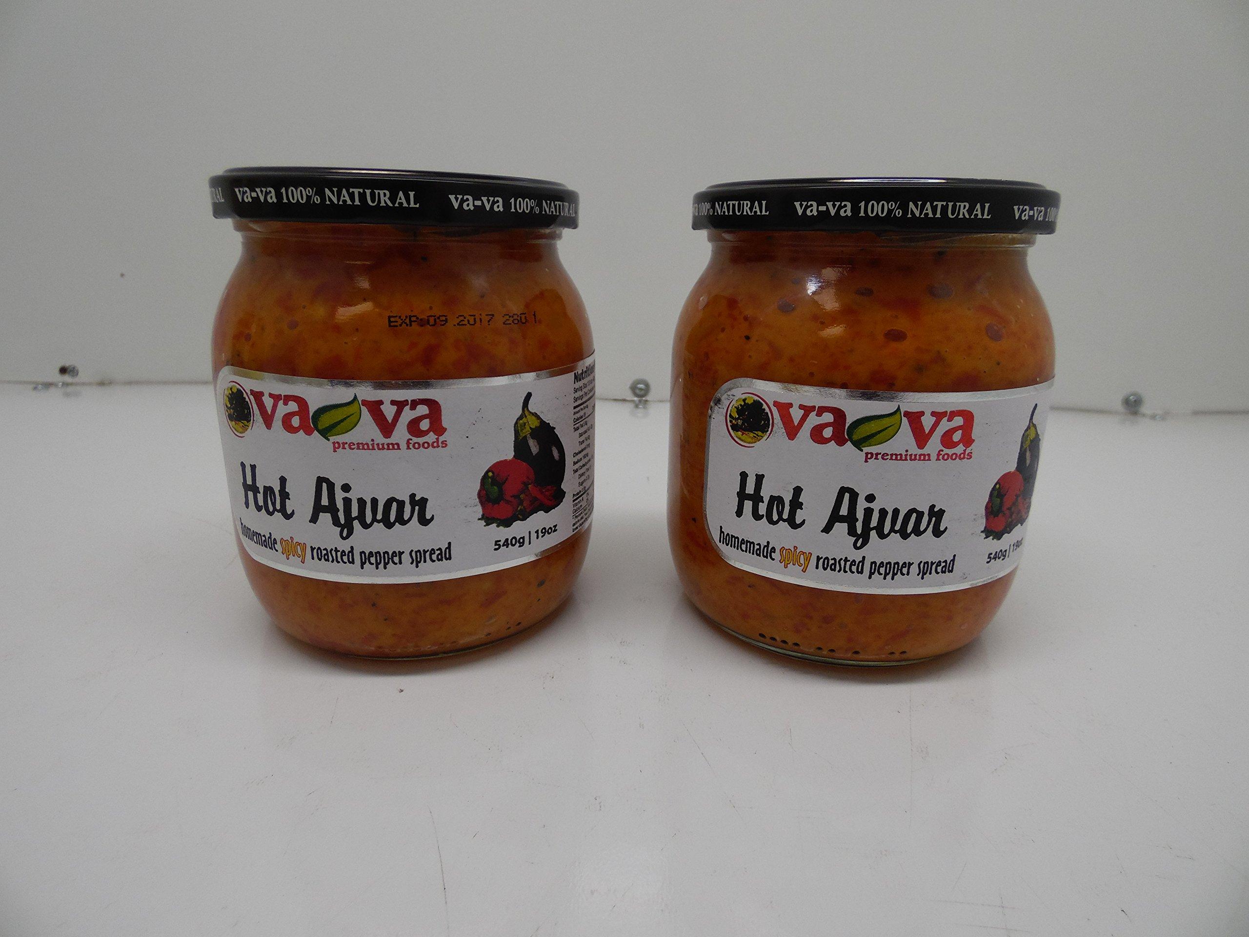 Va-Va Ajvar Hot Vegetable Spread, 540 Gr x 2, Pack of 2