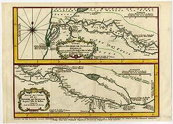 Senegal River Africa Map.Amazon Com Antique Print Sanaga Senegal River Mauritania Africa