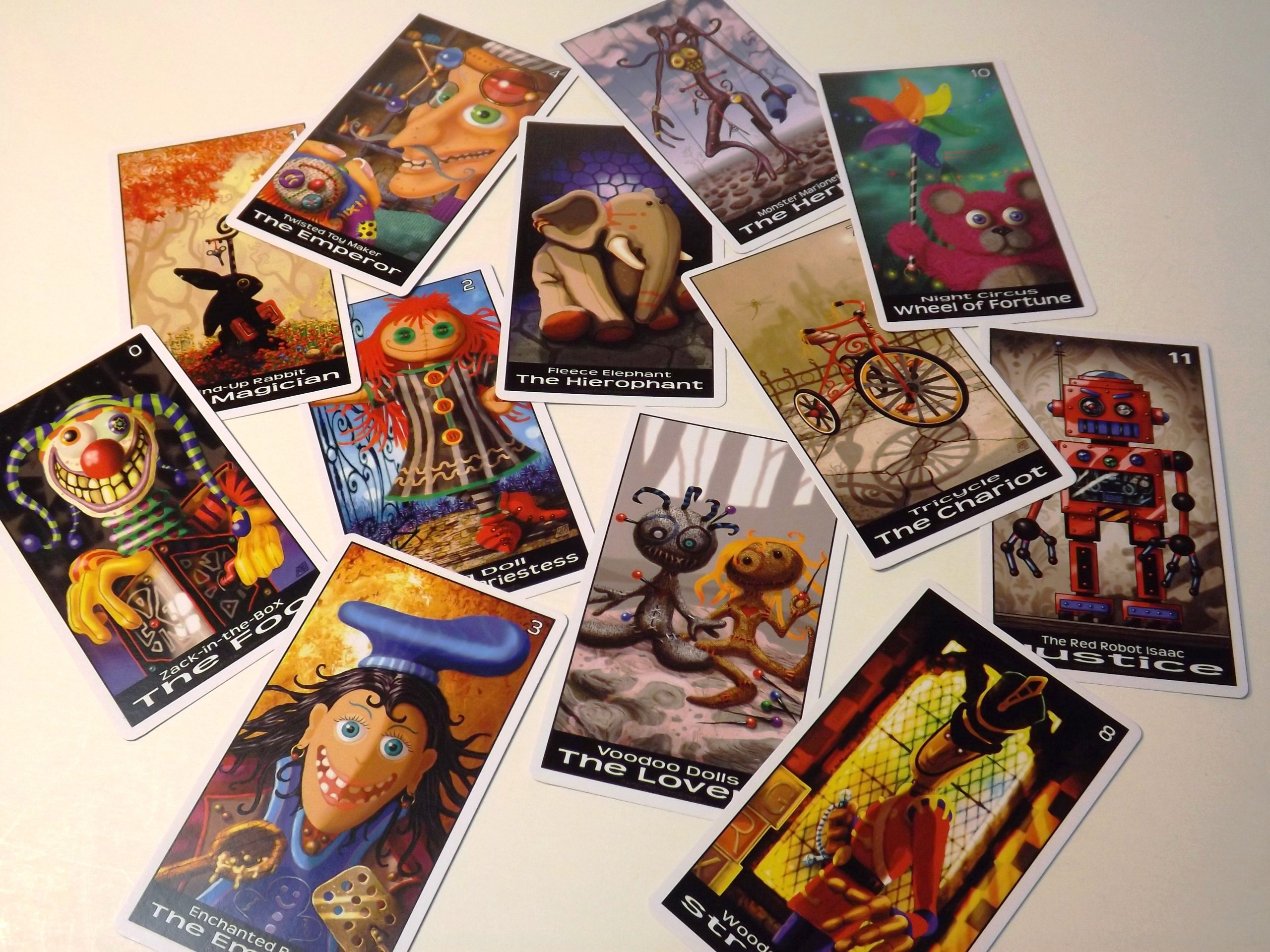 Twisted Toyland Tarot Cards - 22 Card Major Arcana Deck (With Handmade Tarot bag) by Oracles Forest Studios (Image #1)