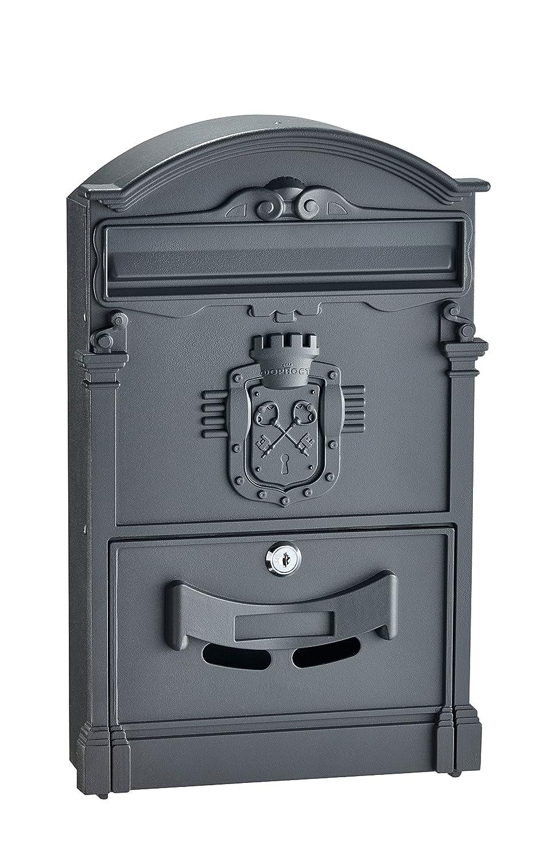 adirhomeブラックスチールAncient Castleメールボックス   B079859F21