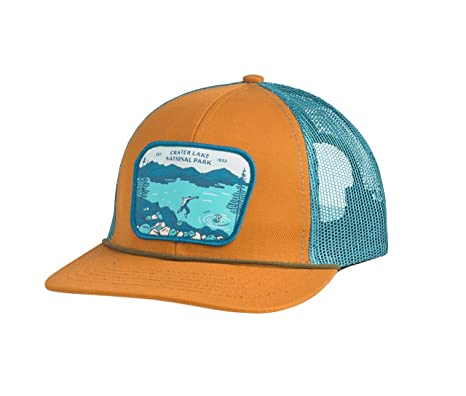 2bf981a7 Sendero Provisions Co. Crater Lake SPC150-2 National Park Hat, Cedar/Teal
