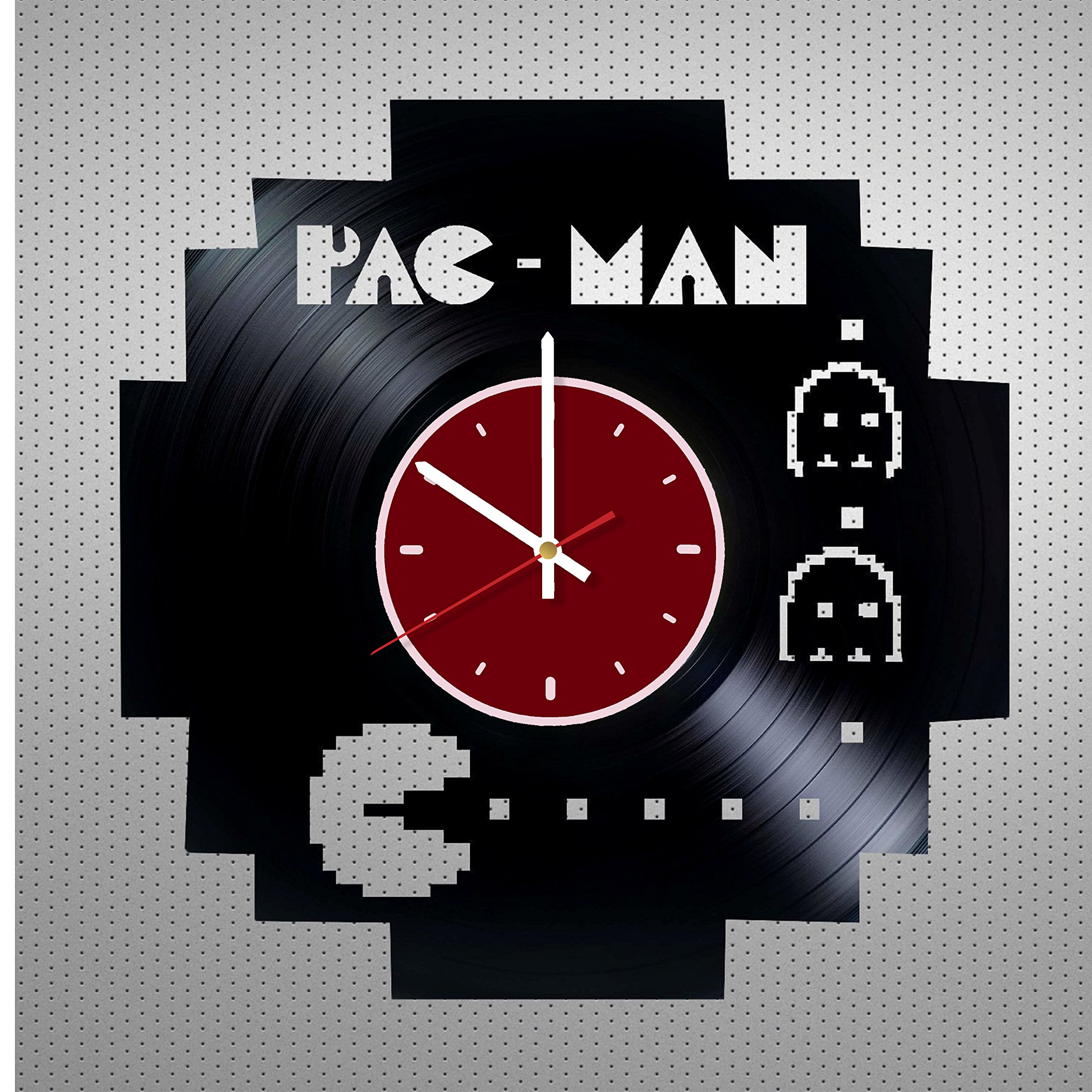 Pac Man Game Vinyl Wall Clock Living Room Home Decor