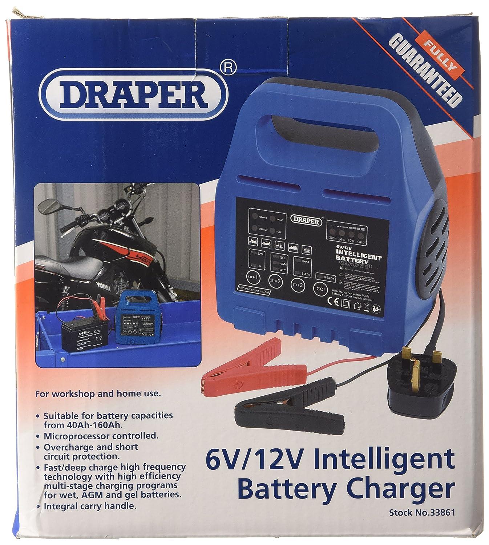 Draper 33861 Intelligent Battery Charger 6//12 V