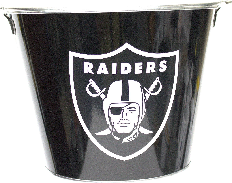 5-Qt Home Kitchen Bar Storage Container Metal Oakland Raiders Metal Ice Bucket