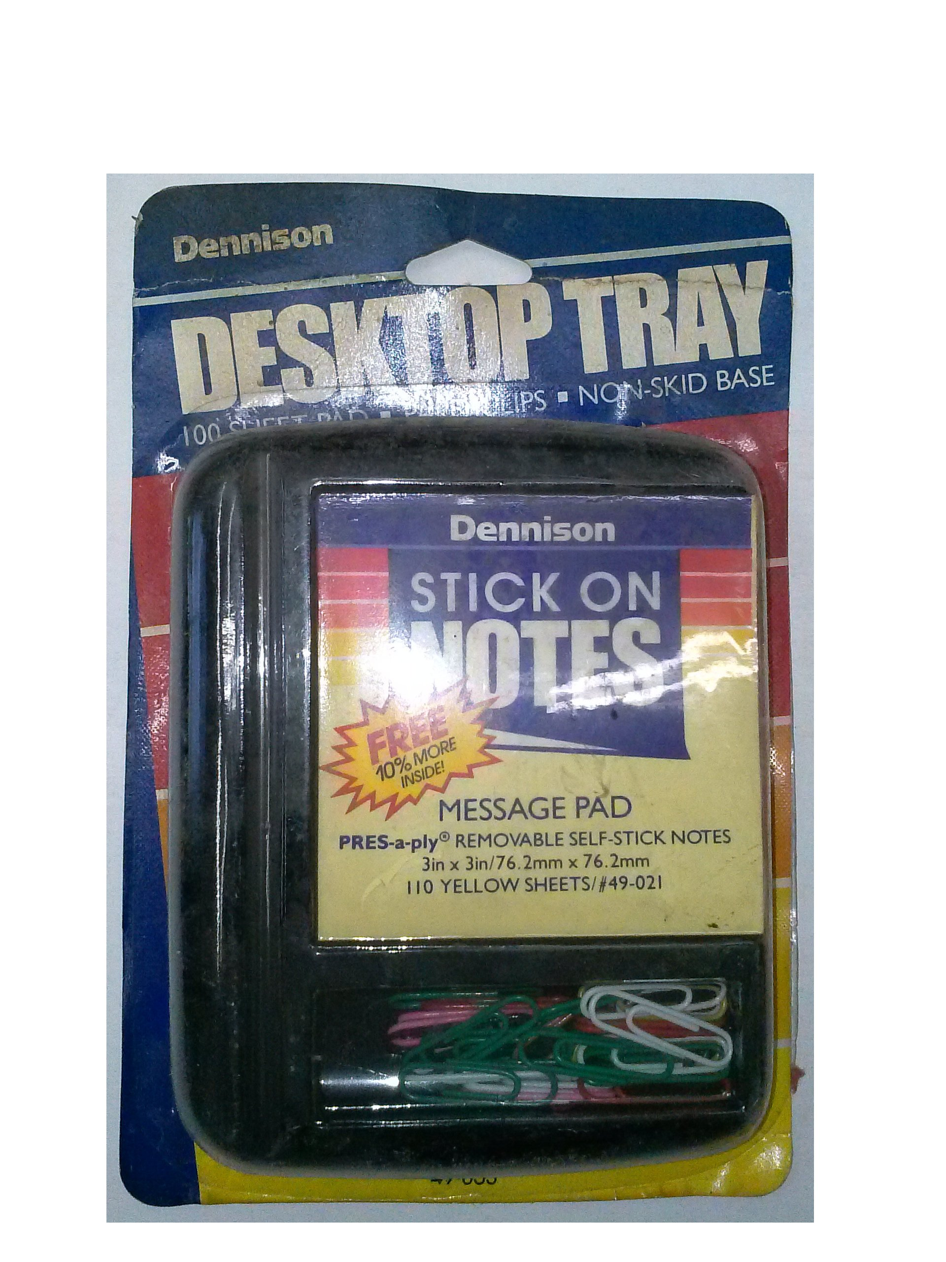 Dennison 49-053 Desktop Tray 3'' x 3'' for Post-Its & Paper Clips by Dennison