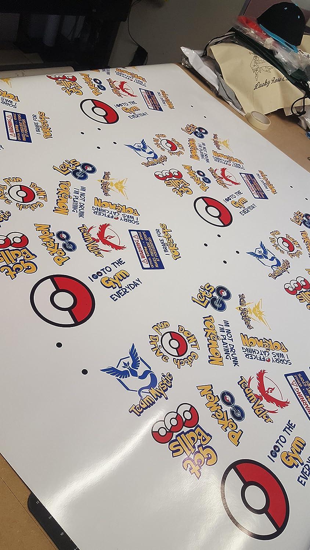Pokemon-Go-Sticker mit englischer Aufschrift I brake for pokestops