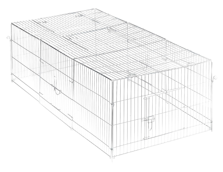 Trixie Natura Enclos avec Couverture Galvanisé 216 × 65 × 116 cm pour Lapin 62452