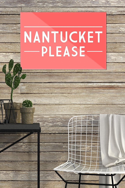 12x8 Acrylic Wall Art Gallery Quality Nantucket Please Simply Said Massachusetts Nantucket