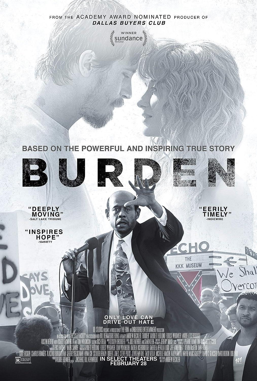 Movie Poster Burden (2020) 13 in x 19 in Poster Flyer Borderless + Free 1 Tile Magnet
