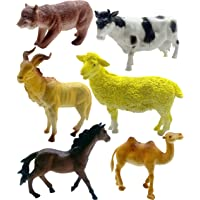 SaleON 6pc Large Size Animal Model Children Puzzle Early Education Gift Animal Toy Set Realistic Animal Figures Toys for Kids , Animal Toy Set Play for Kids (1328)