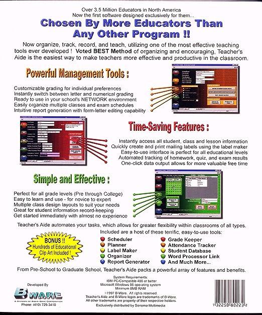 Amazon.com: Teacher's Aide: Software