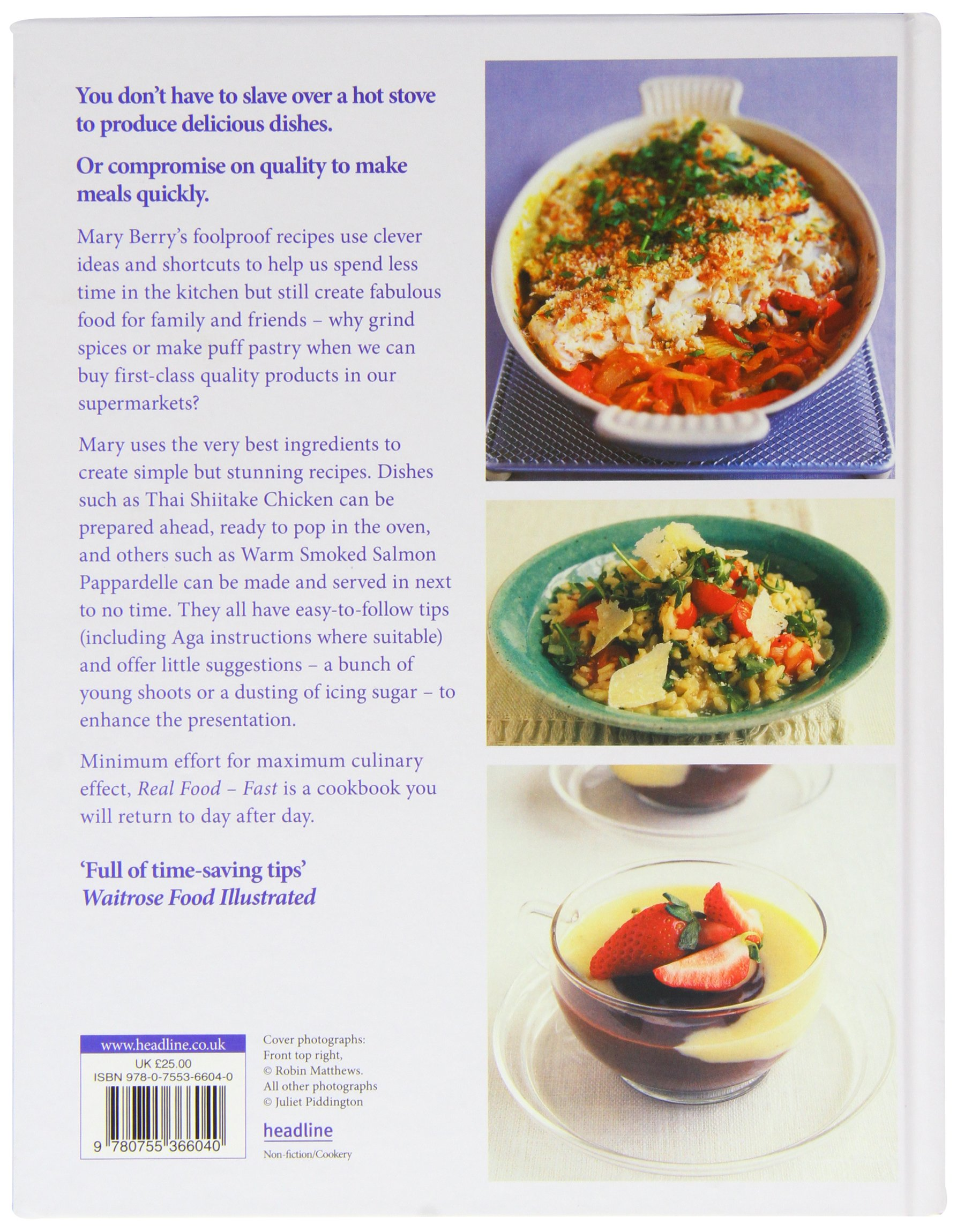 Real Food - Fast: Mary Berry: 9780755366040: Amazon.com: Books