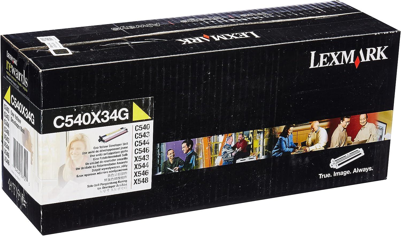 30.000 Pages - original C540X33G Lexmark C 543 DN Developer unit