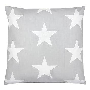 Amazing Tuptam Kissenhlle Dekorativ Gemustert Dekokissen Baumwolle Farbe  Grau Groe Weie Sterne Gre With Groe Dekokissen