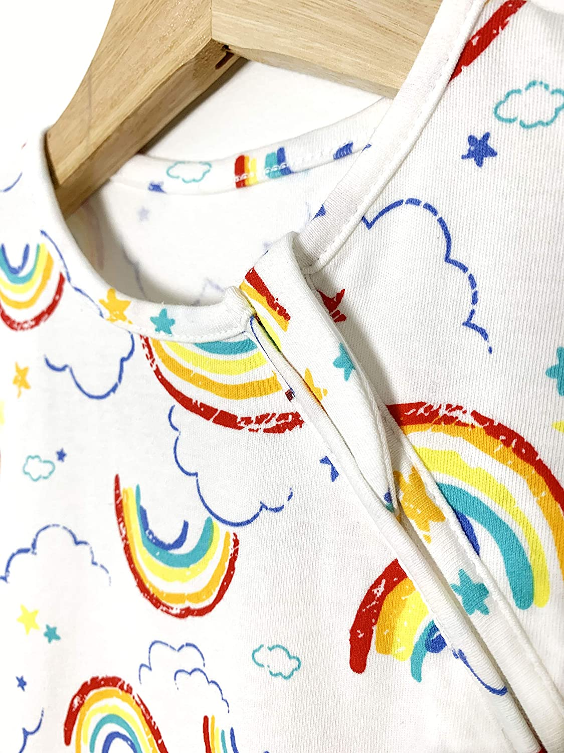 0.5 TOG Spring//Summer Baby Sleep Sack MiniSteps Sleep Sack Baby Swaddle Sack Baby Sleepwear Wearable Blanket Two Way Zipper Breathable Sleeping Cloth 100/% Cotton Rainbows, 6-18 months Super Soft