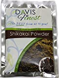 Davis Finest Shikakai Powder - Pure Natural Hair Loss Growth Chemical SLS PPD Free Soap Shampoo Deep Cleansing Thickening Shine Conditioner - Itchy Scalp Lice Treatment - Face Mask Body Wash (100g)