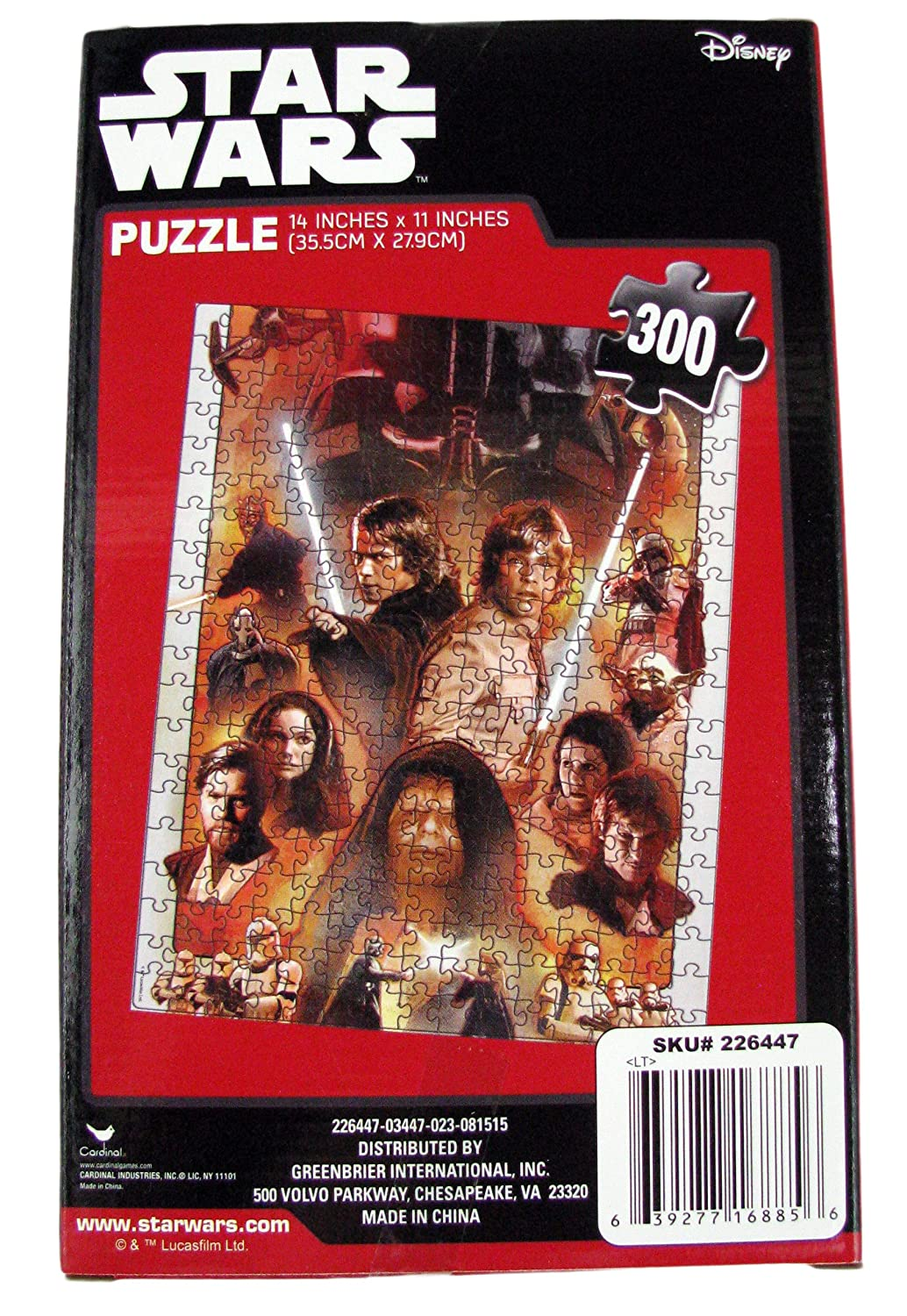 Luke with Light Saber Cardinal Industries Inc. Classic Characters Star Wars 300 Piece Jigsaw Puzzle