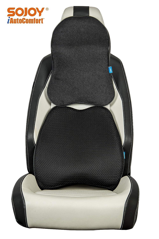17x13x6 Sojoy Auto USA Sojoy Patented Universal Ergonomic Streamlining Car Seat//Cushion Lumbar and Neck Support