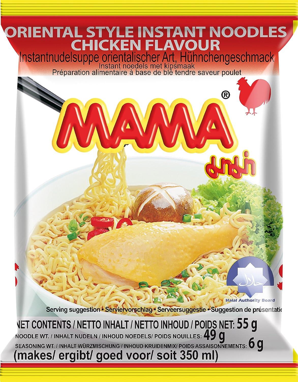 Soupe nouille poulet MAMA Carton 30x55g Thailande: Amazon.es: Alimentación y bebidas
