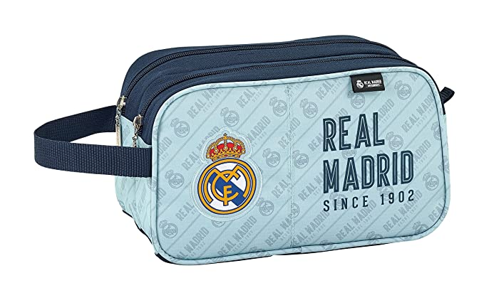 Real Madrid Neceser, Color Gris y Azul Marino 26 cm 811824518: Amazon.es: Ropa y accesorios