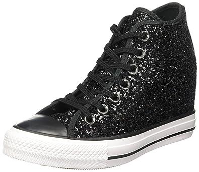 a1e68cbfeed Converse - Converse All Star Chaussures de coin Interne Scintillantes Noir  Lux Mid