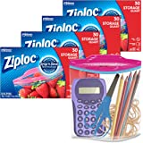 Ziploc Quart Food Storage Bags, Grip 'n Seal Technology for Easier Grip, Open, and Close, 30 Count, Pack of 4 (120 Total Bags