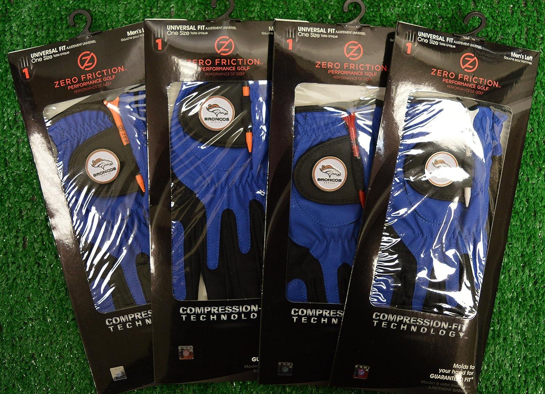 4ゼロ摩擦メンズLeft Handユニバーサルゴルフグローブ – Denver Broncos – ブルー   B077W5TM45