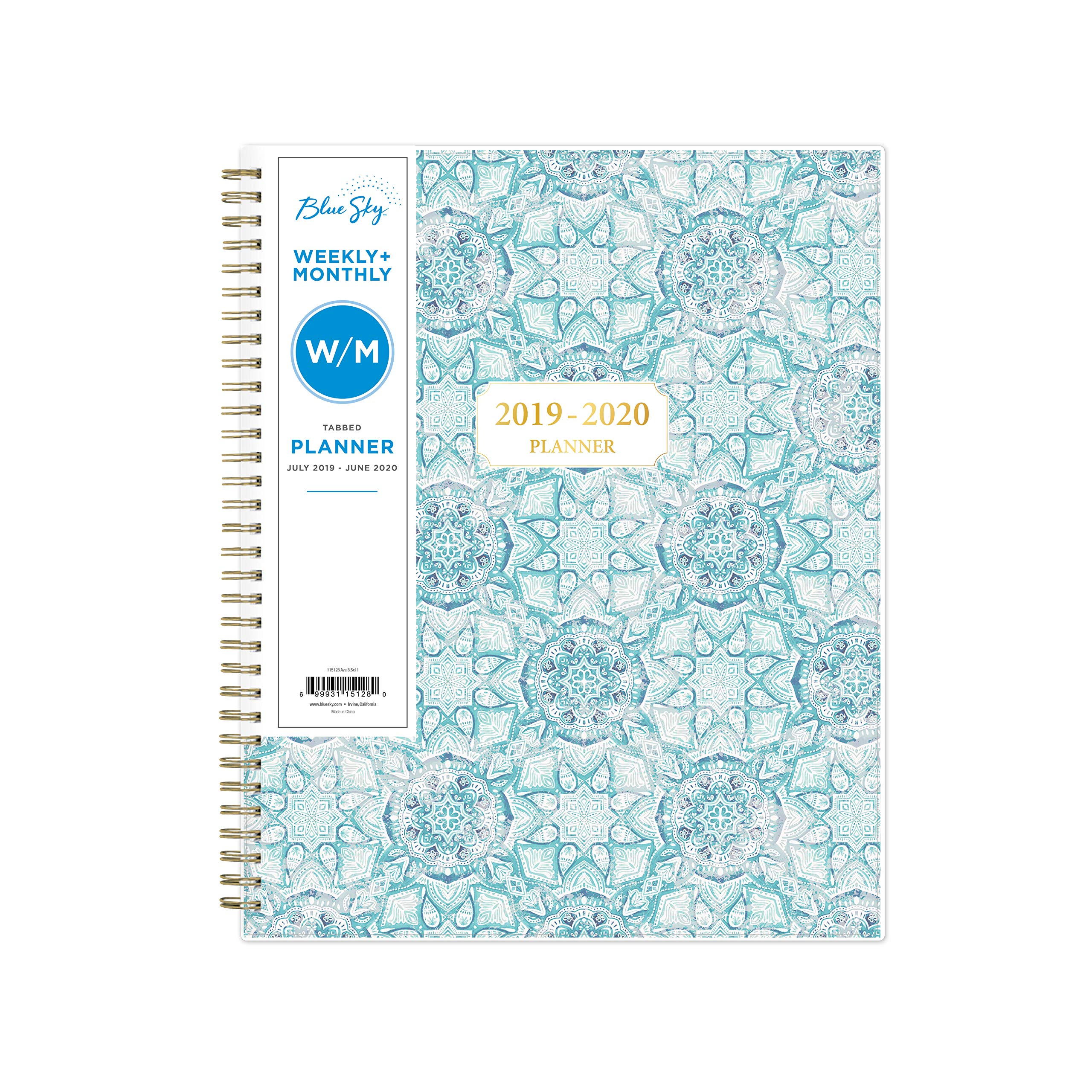 Blue Sky 2019-2020 Academic Year Weekly & Monthly Planner, Flexible Cover, Twin-Wire Binding, 8.5'' x 11'', Ava