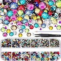 TecUnite 2000 Piezas de Gemas Planas Diamantes