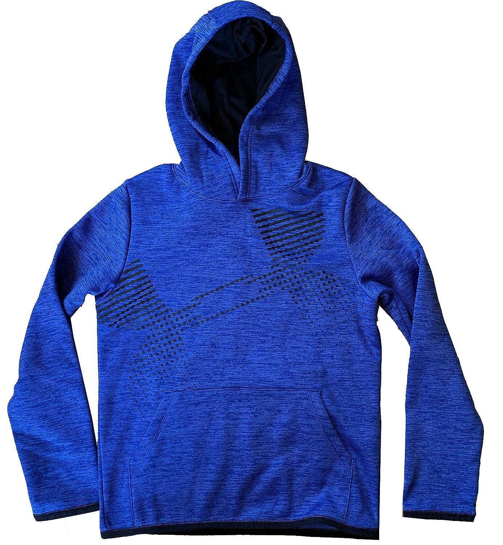Under Armour Boys ColdGear Pullover Loose Fit Fleece Lined Logo Hoodie Sweatshirt