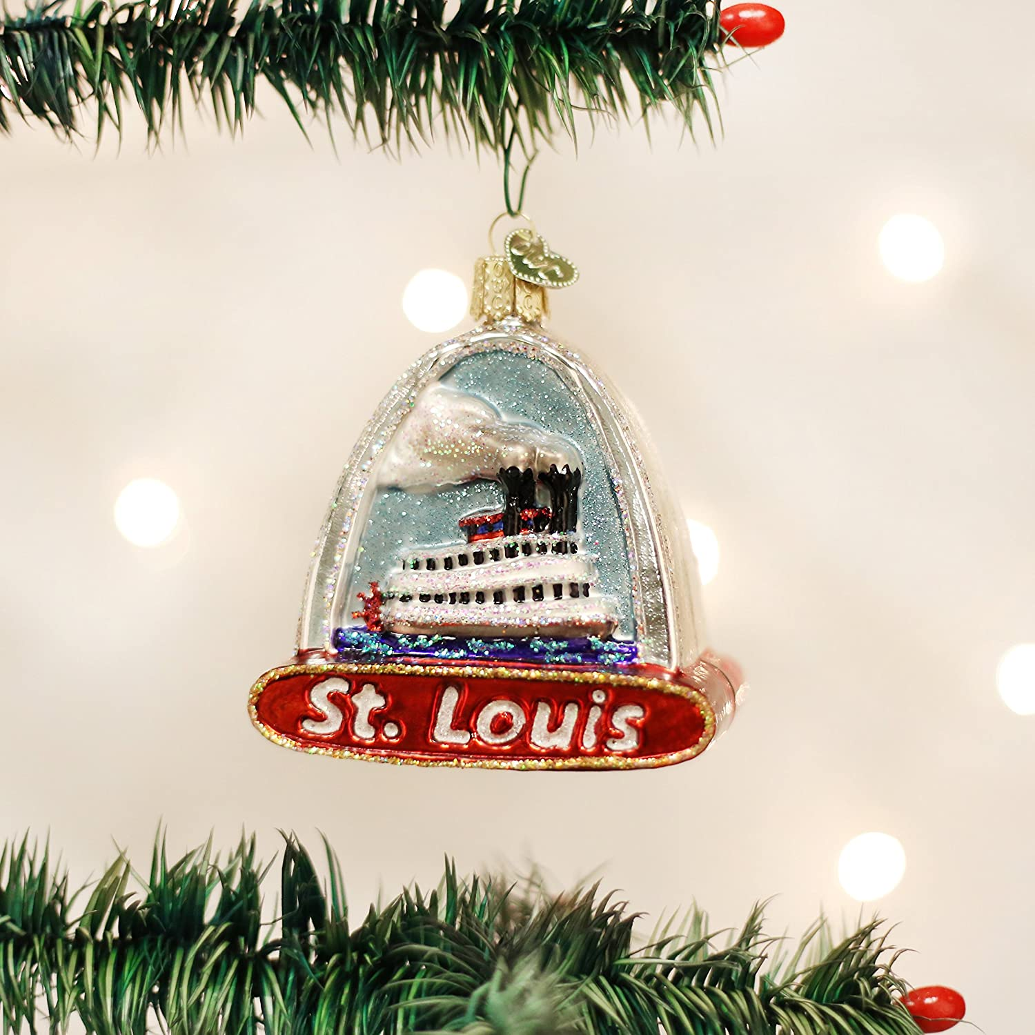 Amazon Old World Christmas Ornaments St Louis Arch Glass Blown