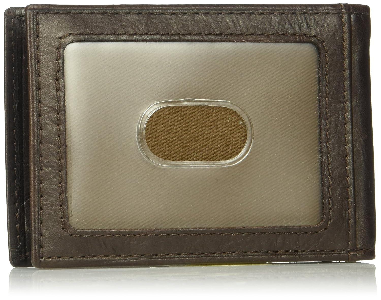Fossil 10581 Men s Neel Leather Money Wallet Clip Bifold Leather ...
