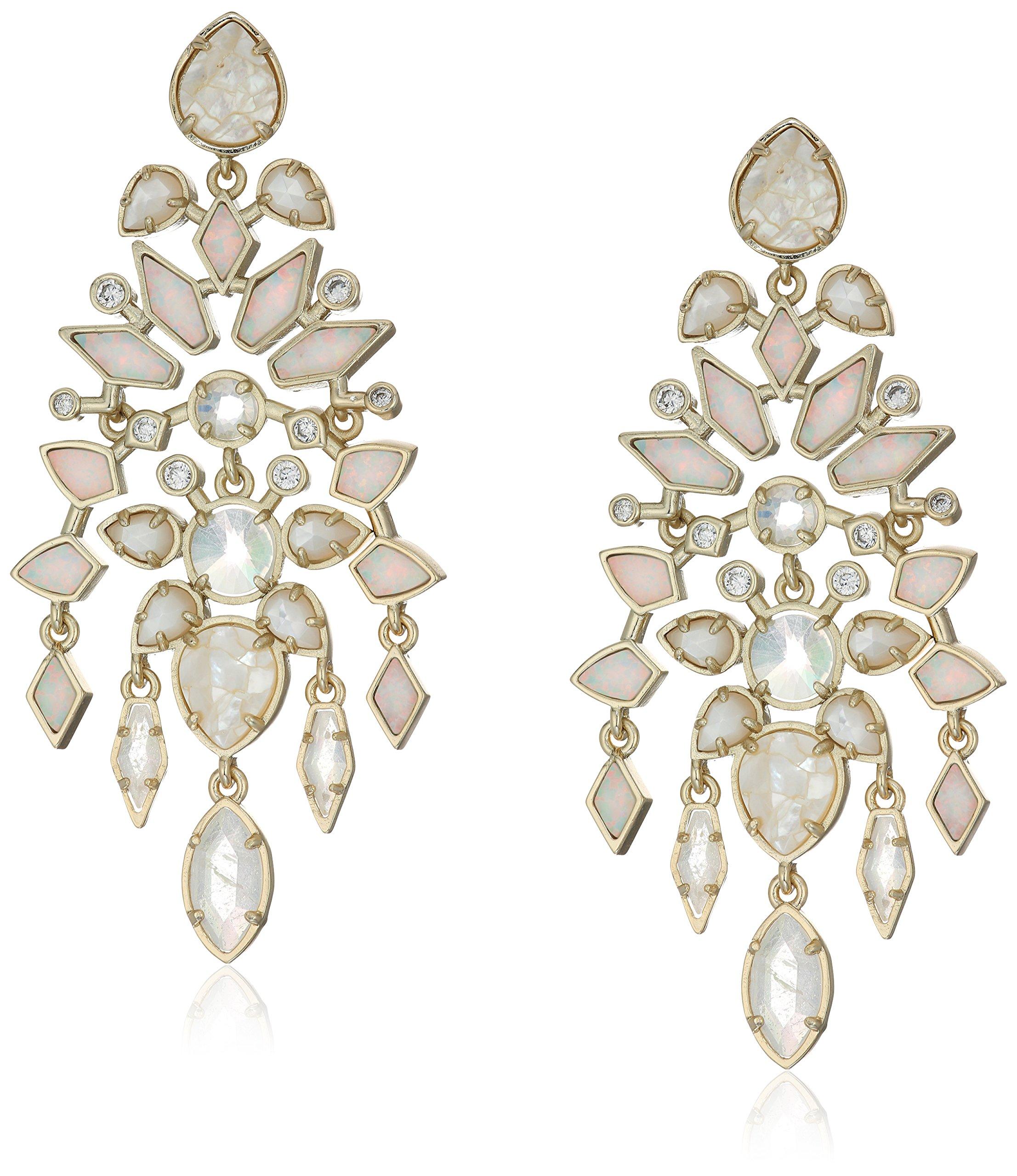 Kendra Scott Aryssa Gold Plated Ivory Zellige Earrings