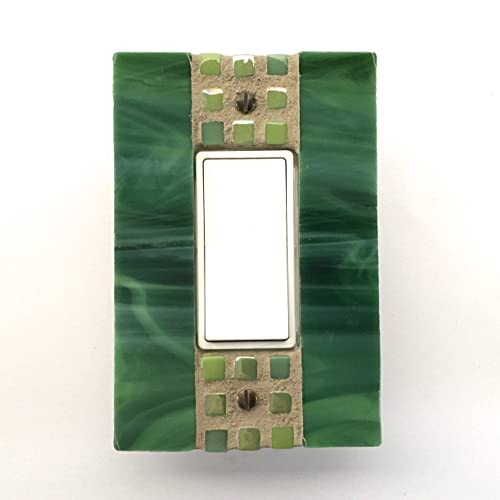 Amazoncom Glass Light Switch Cover Green Switch Plate Stained