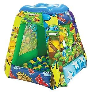 "Teenage Mutant Ninja Turtles Half-Shell Heroes Ball Pit, 1 Inflatable & 20 Sof-Flex Balls, Green, 37""W x 37""D x 34""H"