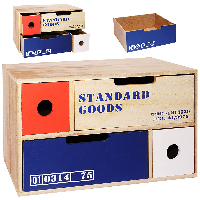 alles-meine GmbH Aufbewahrungsbox / Schubladenbox / Kommode / Holzbox - Cargo - Shabby Chic /..