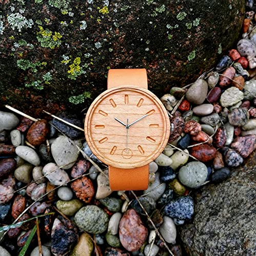 Cherry Wood Wrist Watch