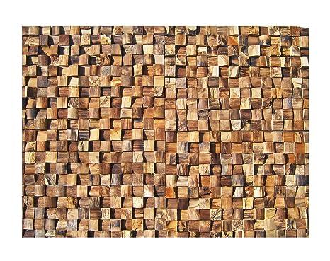 Ho m a mosaico in legno di teak legno piastrelle piastrelle motivo