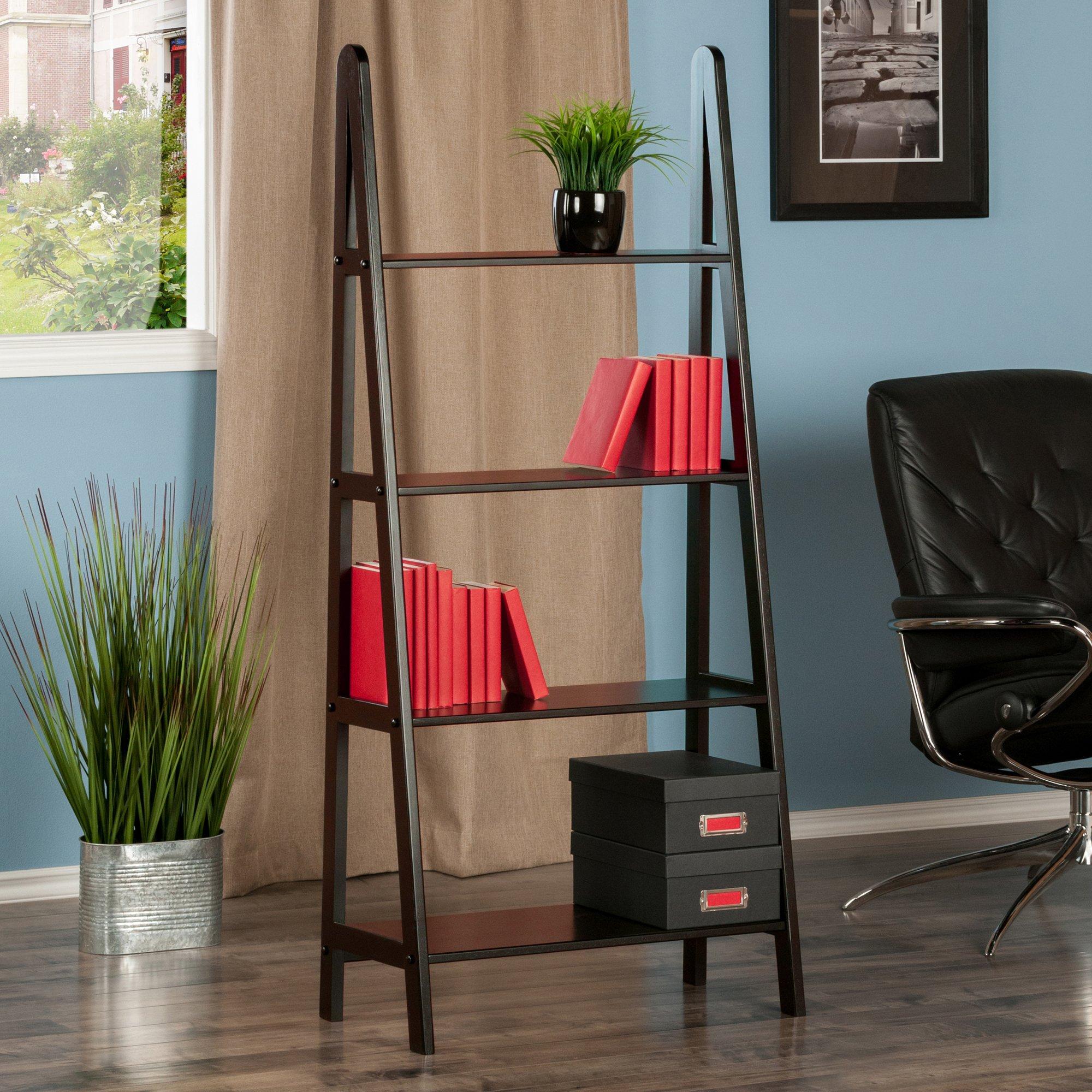 Winsome Wood 4-Tier A-Frame Shelf, Dark Espresso by Winsome Wood (Image #2)