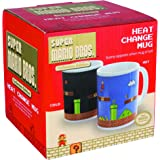 Nintendo Super Mario Heat Change Mug | Sensitive to Hot Drinks - Mario Level Screen Appears | Colour & Design Changes When Hot | Magic Colour Changing Coffee Tea Cup