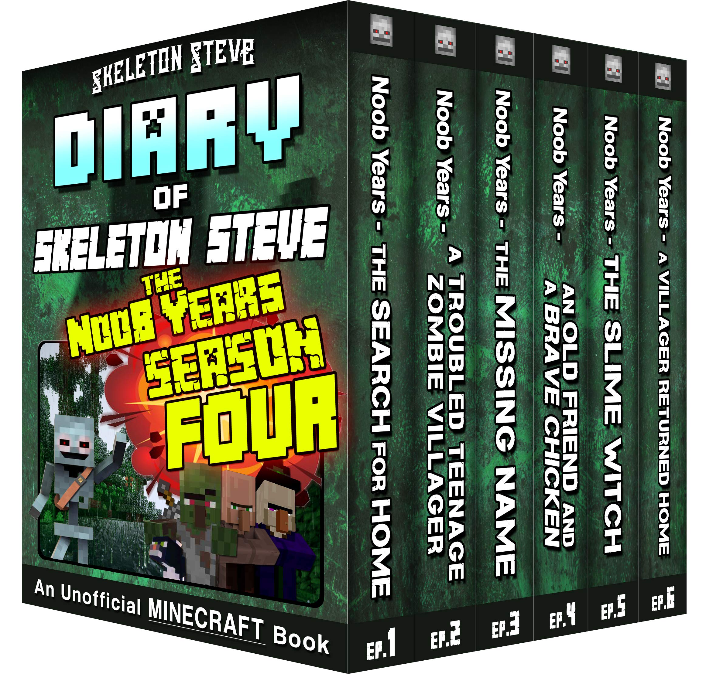 Minecraft Diary of Skeleton Steve the Noob Years - FULL Season Four (4): Unofficial Minecraft Books for Kids, Teens, & Nerds - Adventure Fan Fiction Diary ... - Bundle Box Sets 16) por Skeleton Steve
