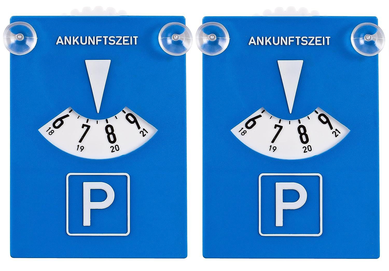 DIYexpert 2er Pack Parkscheibe Kunststoff mit Saugnä pfen DIYexpert®