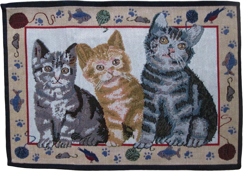 4 pieza Manteles individuales tapiz diseño de gatos, Juego de mesa Kitten 50 x 35 cm: Amazon.es: Hogar
