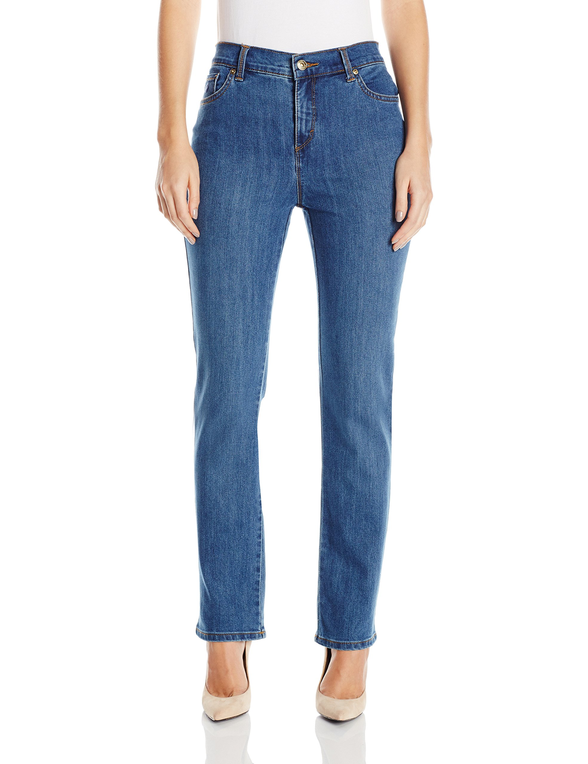 Gloria Vanderbilt Women's Petite Amanda-Classic Straight Leg Jean in Short Length, Sundance Wash, 12P