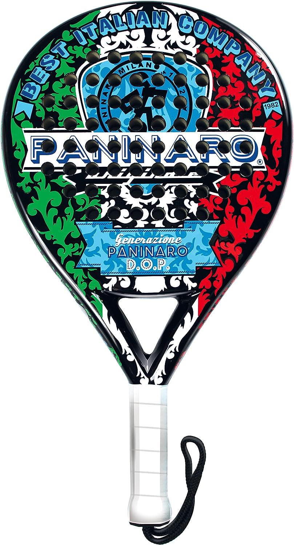 PANINARO Pala de Padel Italia - 38mm, Carbono, Color Negro ...