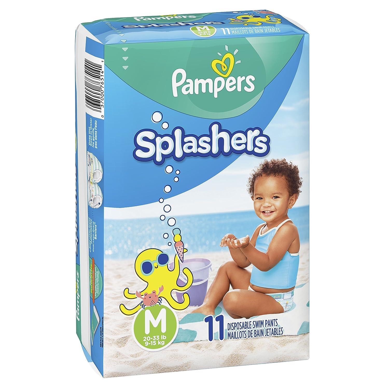 18 Count Medium 20-33 lb Pampers Splashers Swim Diapers Disposable Swim Pants