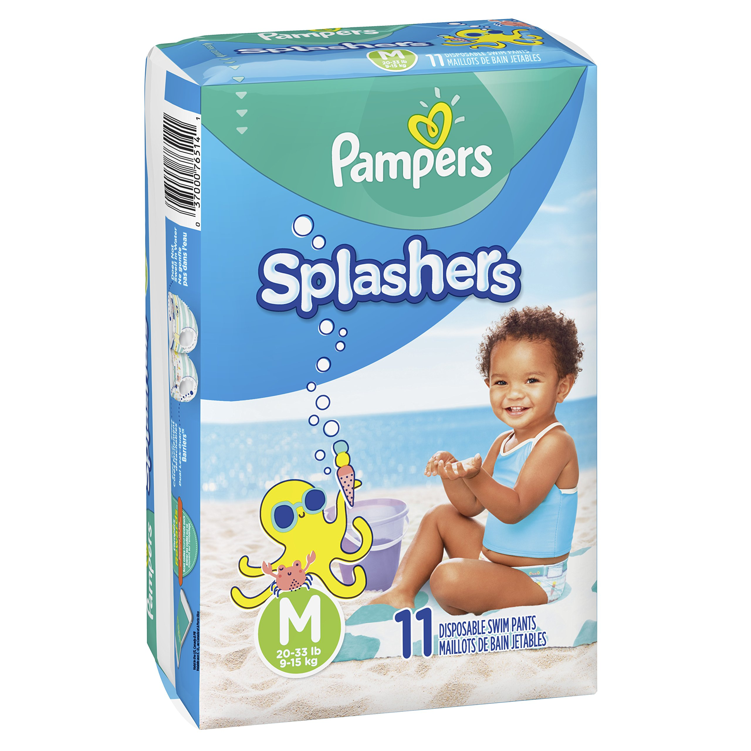 3452d3011 Amazon.com   Pampers Splashers Swim Diapers Disposable Swim Pants ...