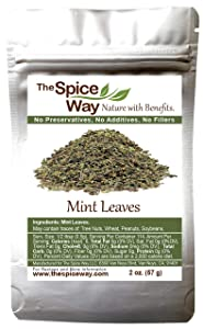 The Spice Way Mint Leaves - ( 2 oz ) dried loose mint leaf