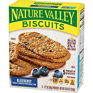 Nature Valley Breakfast Biscuit, Blueberry, 8.85 oz (5 Pouches, 4 Biscuits per Pouch, 20 Biscuits Total)